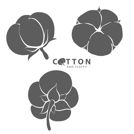 Vector illustration of silhouette cotton logo