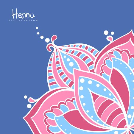 vector illustration of mehndi flowers template