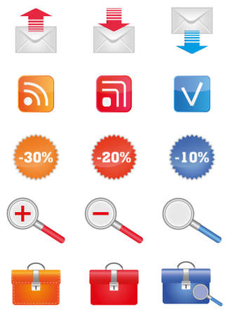 set of colored office and universal icons Stock Vector - 9929822