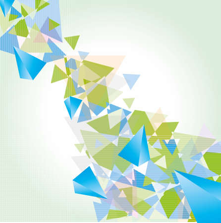 abstract triangles creative background Vector