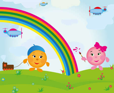 fun colorful children Vector