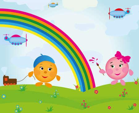 fun colorful children Vector