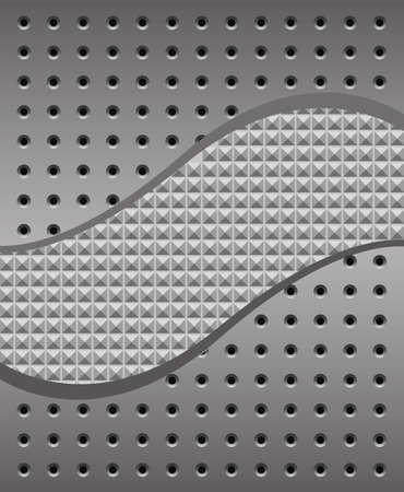 platin: Eisen Hintergrund mit L�chern und Textur Illustration