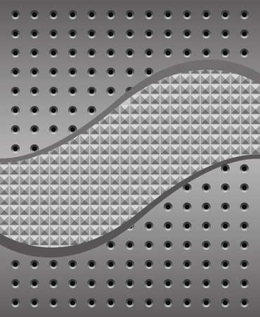 iron background with holes and texture Vector