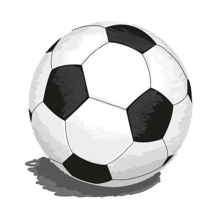 soccerball: illustration of soccer-ball isolated on white for your design