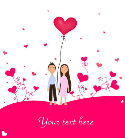 enamorados caricatura: Valentine Vectores