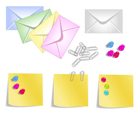 collection of colorful stationery products for your design Stock Vector - 10722480