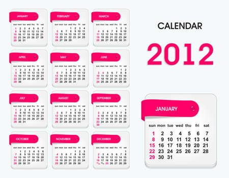 calendario noviembre: calendario elegante para 2012, todos los elementos están en capas separadas y agrupado, fácil de editar Vectores