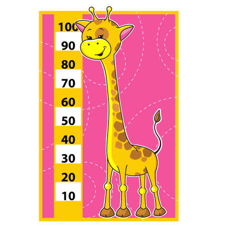 Cute cartoon vector illustration of Giraffe scale  Vector