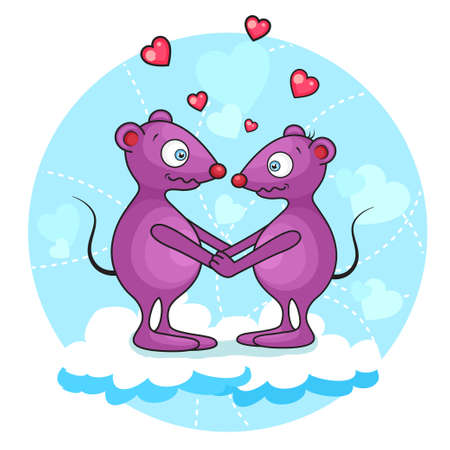 cute valentine mouse Stock Vector - 14071480