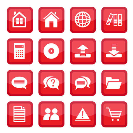 Office and business vector Icon Set for web and mobile. All elements are grouped. Stock Vector - 14594342