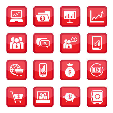 Financial Icon Set for web and mobile  All elements are grouped  Vector
