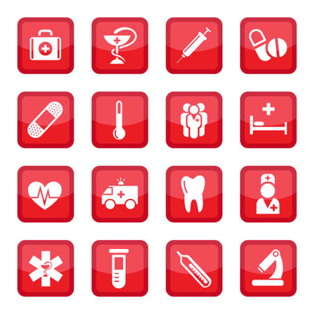 Medical  Icon Set for web and mobile  All elements are grouped  Stock Vector - 14655935