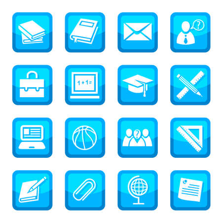 School and Education Icon Set for web and mobile  All elements are grouped  Stock Vector - 14774257