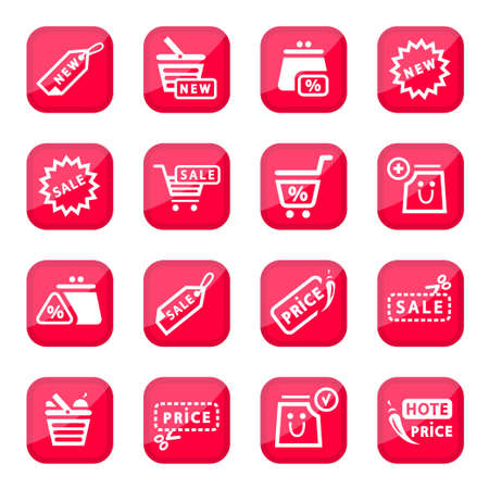pocket book: Online Shopping Icon Set for web and mobile  All elements are grouped  Illustration