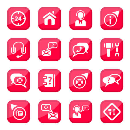 Help and Support  Icon Set for web and mobile  All elements are grouped Stock Vector - 14887205