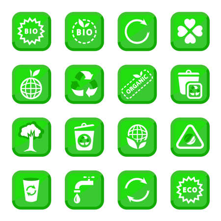 Environmental Icon Set for web and mobile  All elements are grouped  Vector