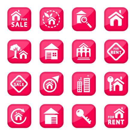 Building Icon Set  for web and mobile  All elements are grouped  Vector