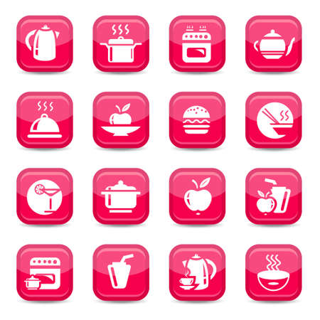 Kitchen Icon Set for web and mobile  All elements are grouped  Vector