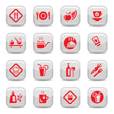 Food Icon Set for web and mobile  All elements are grouped  Vector