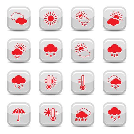 Weather Icon für Web-Set und mobile Alle Elemente werden gruppiert Illustration