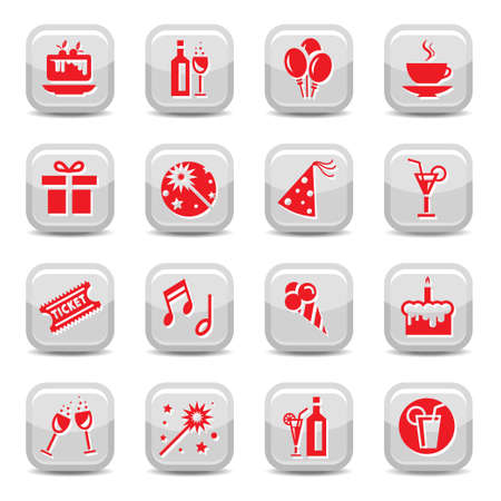Celebrate Icon Set for web and mobile  All elements are grouped Stock Vector - 15561313