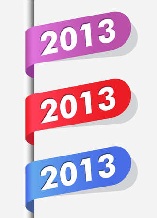 Illustration. 2013 New Year Labels for your design. Vector