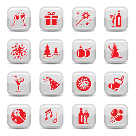 Celebrate Icon Set for web and mobile. All elements are grouped. Stock Vector - 15781123