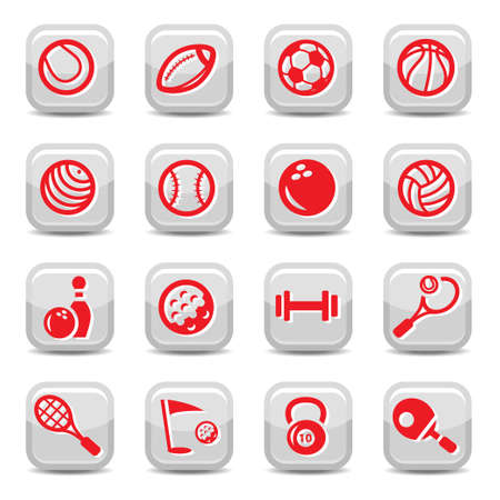 Icons set sports and games for web and mobile. Vector