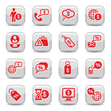 Money Vector Icon Set for web and mobile. All elements are grouped. Stock Vector - 16008708