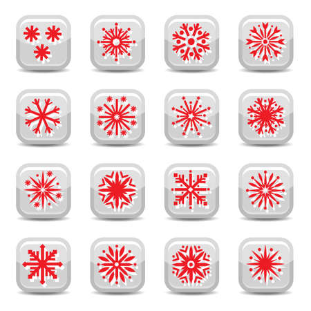 Christmas Snowflakes Icon Set for web and mobile. All elements are grouped. Stock Vector - 16135819