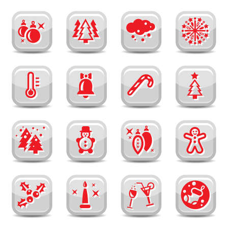 Winter And Cristmas Icon Set for web and mobile  All elements are grouped Stock Vector - 16360741