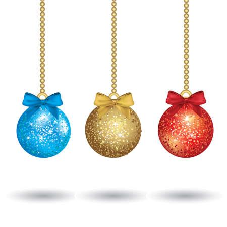 Colorful Illustration Christmas Balls Stock Vector - 16594393