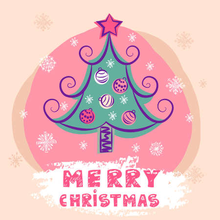 attern: Colorful Christmas Tree With Christmas Balls