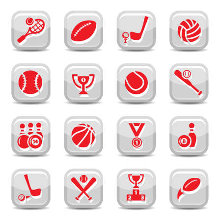Sport vector icon set for web and mobile  All elements are grouped  Vector