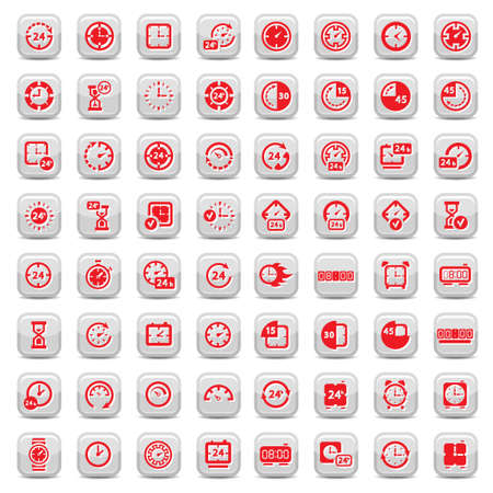 Big Clock Icon Set for web and mobile  All elements are grouped  Ilustração