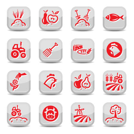 Agriculture And Farming Icons Set for web and mobile  All elements are grouped  Vector