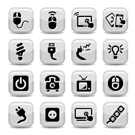 Electronic Devices Icons Set for web and mobile  All elements are grouped Stock Vector - 17682109