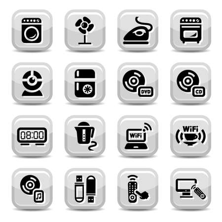 Electronic Devices Icons Set for web and mobile  All elements are grouped  Stock Vector - 17814748