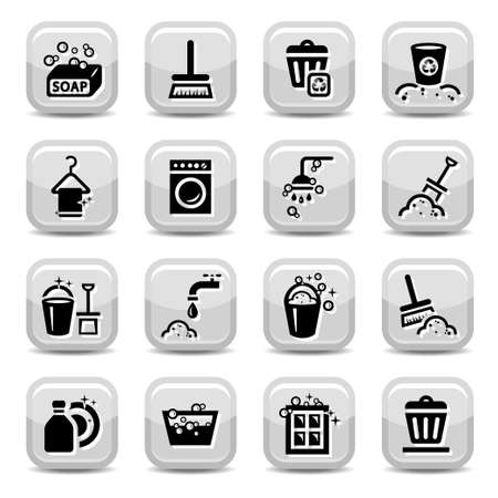 Cleaning Icons Set for web  All elements are grouped  Stock Vector - 17814747