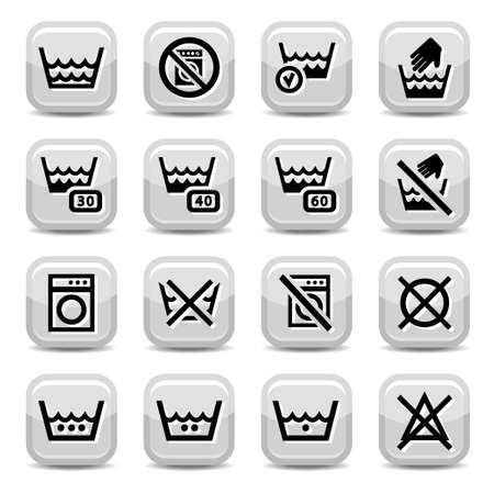 Laundry Icons for web and mobile  All elements are grouped  Stock Vector - 18014890