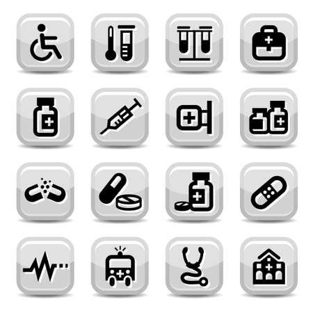 Elegant Colorful Medical Icons Set Created For Mobile, Web And Applications  Vector