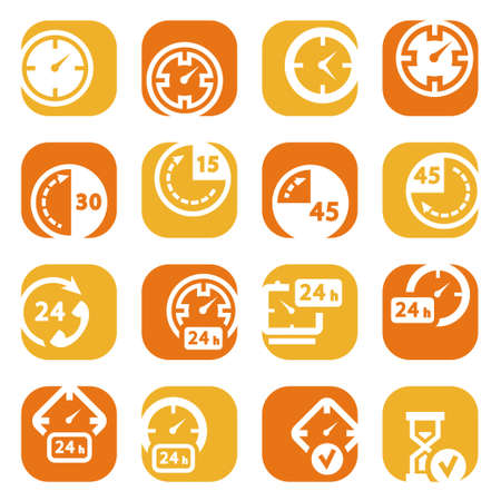 clock icon: elegant colorful icons set created for mobile, web sites and applications  Illustration