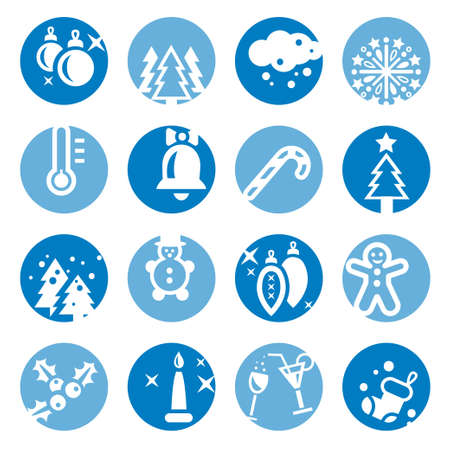 Elegant Colorful Cristmas Icons Set Created For Mobile, Web And Applications Stock Vector - 18099292