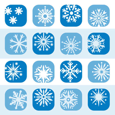 Elegant Colorful Snowflake Icons Set Created For Mobile, Web And Applications Stock Vector - 18394541