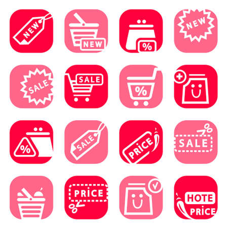 pocket book: Elegant Colorful Online Shopping Icons Set Created For Mobile, Web And Applications