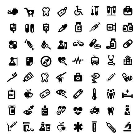 Big Medizin und Gesundheit Icons Set für Mobile, Web und Anwendungen Erstellt Illustration