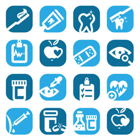 Elegant Colorful Health Icons Set Created For Mobile, Web And Applications Stock Vector - 18430294