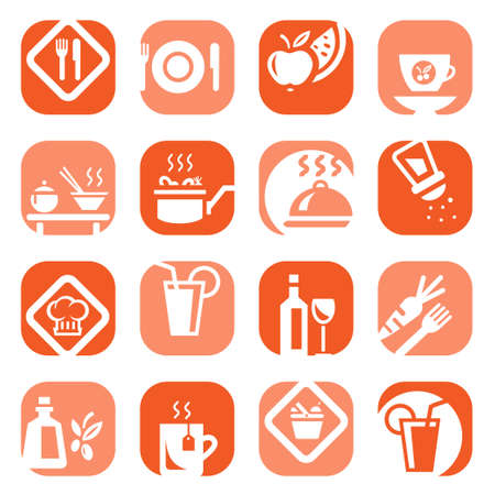 drink tools: Elegant Colorful Food Icons Set Created For Mobile, Web And Applications