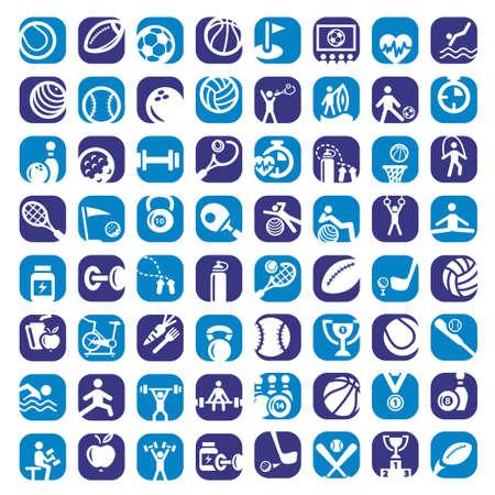 Big Bunte Sports Icons Set Erstellt For Mobile, Web und Anwendungen